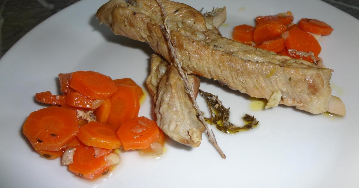 Recette travers de porc aux carottes 750g - Cuisiner travers de porc ...