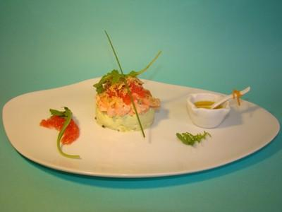 recette panna cotta avocat effeuill de saumon et pamplemousse roses miett de crumble aux. Black Bedroom Furniture Sets. Home Design Ideas