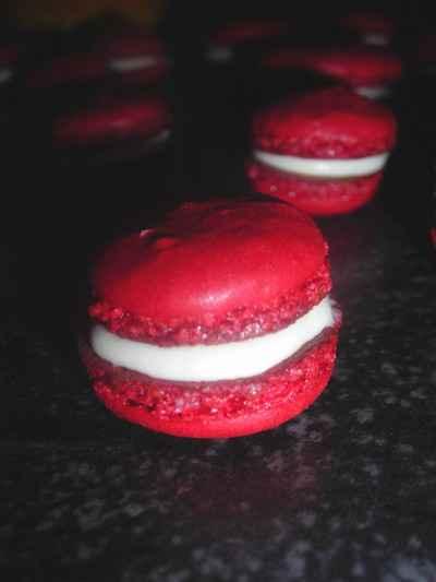 Recette macarons rouge ganache chantilly chocolat blanc Cuisiner les betteraves rouges