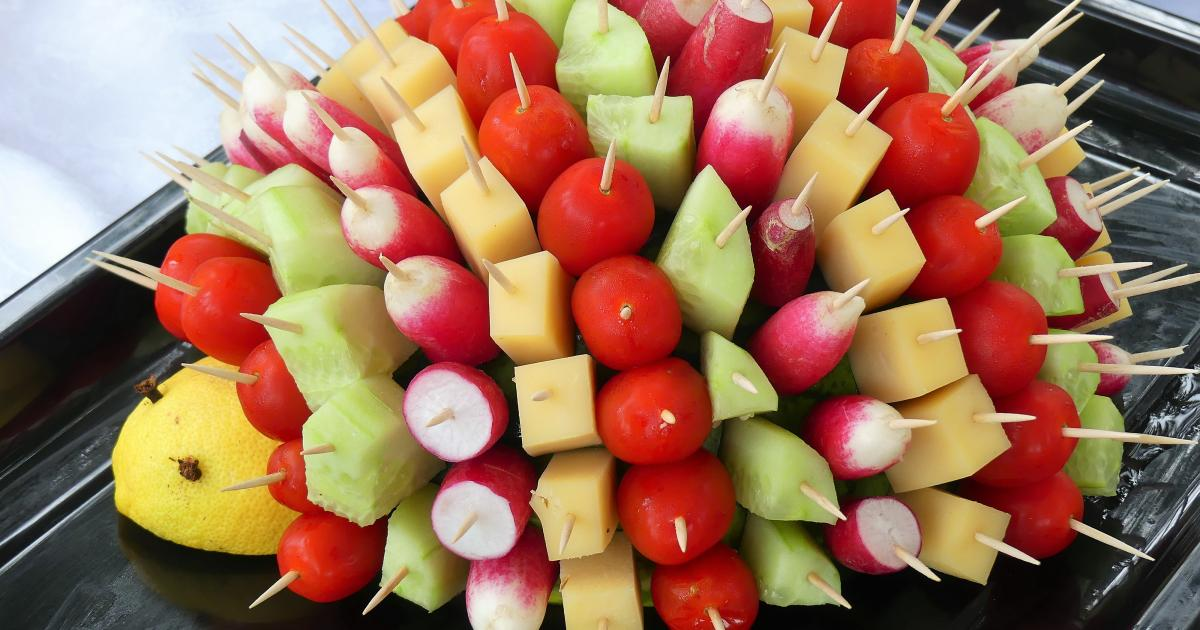 Recette h risson ap ritif 750g - Presentation de brochette de fruits ...