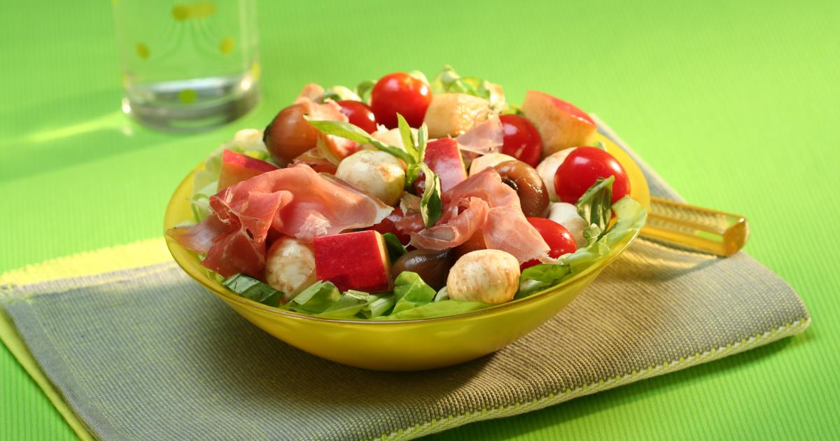 Recettes de salade la mozzarella les recettes les - Cuisiner la mozzarella ...