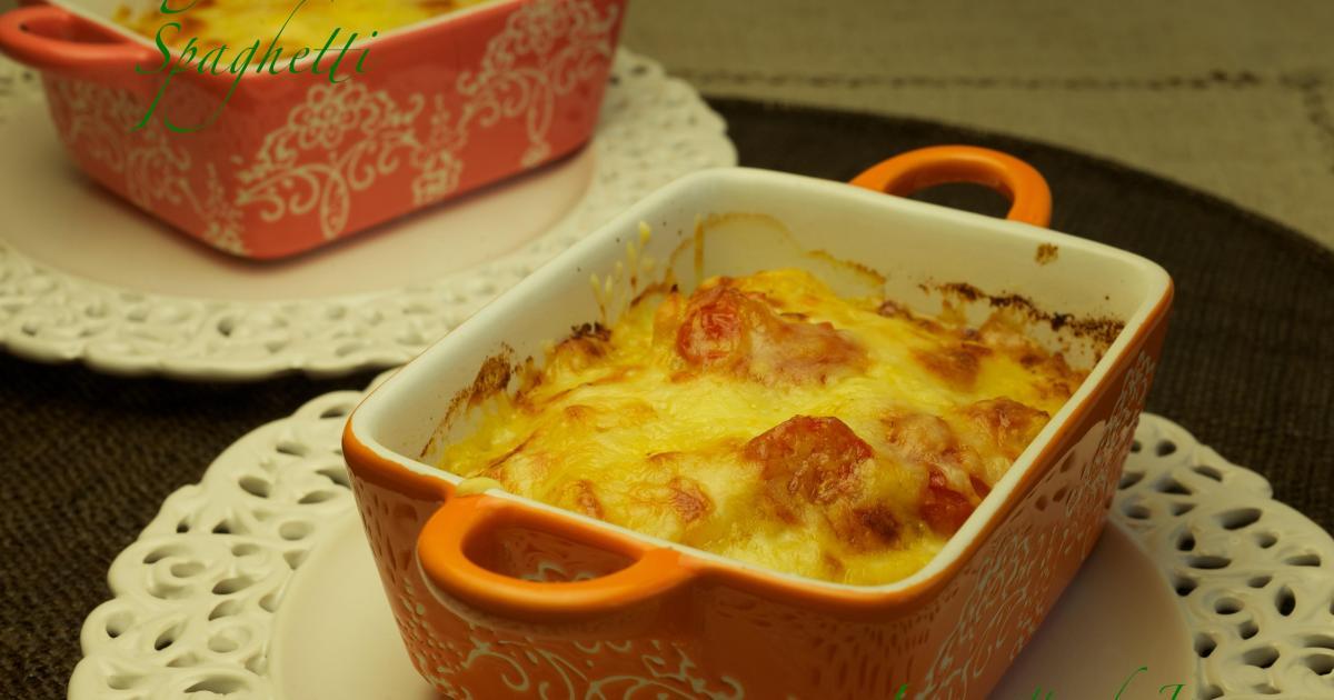 Recette gratin de courge spaghetti et tomates cerise 750g - Cuisiner courgette spaghetti ...
