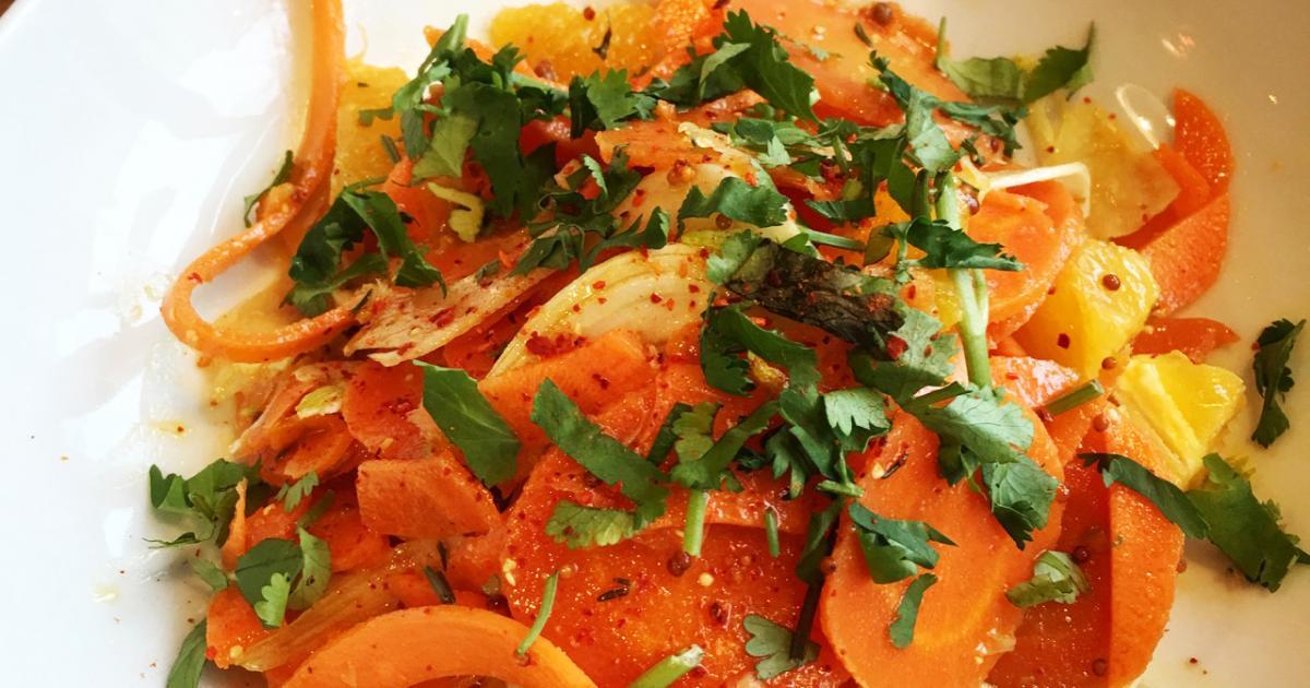 recette salade de carottes cuites et crues l 39 orange 750g. Black Bedroom Furniture Sets. Home Design Ideas