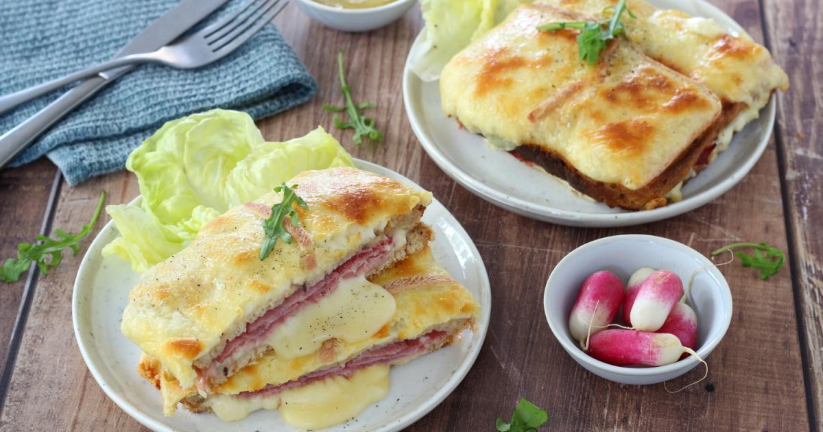 Recette - Croque-monsieur au fromage à raclette en vidéo