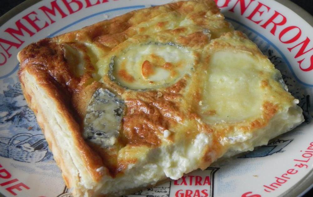 recette tarte aux 4 fromages et au fromage cottage cheese 750g. Black Bedroom Furniture Sets. Home Design Ideas