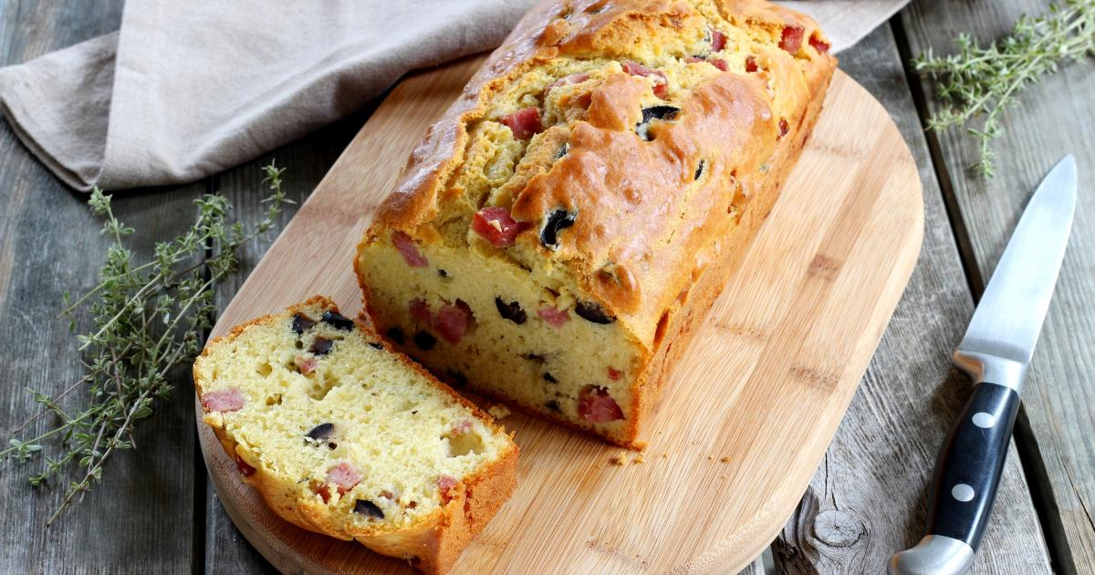 Cake Poivron Jambon Fromage