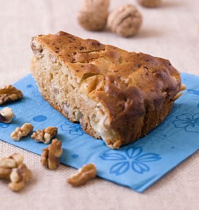 Recette gateau d 39 hiver aux pommes et aux noix de grenoble 750g - Gateau aux noix et pommes ...