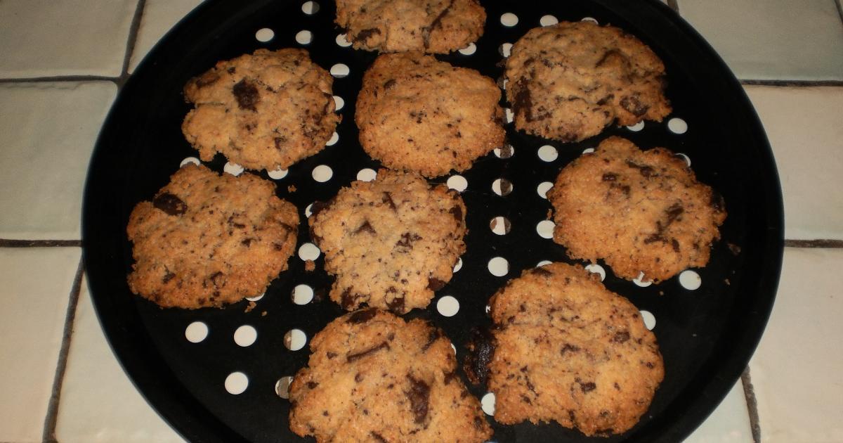 recette cookies aux p pites de chocolat lev s au. Black Bedroom Furniture Sets. Home Design Ideas