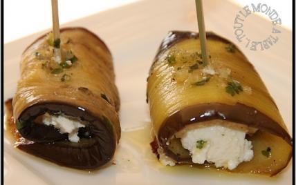Recette - Aubergines marinées à l'huile d'olive farcies à