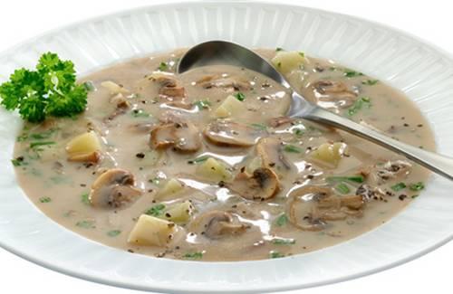 Recette - Potage aux champignons et pommes de terre | 750g