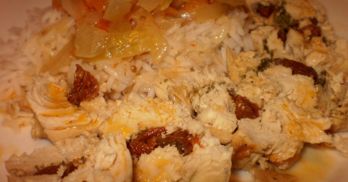 recette poulet farci la tomate s ch e sauce oignon et vinaigre de riz 750g. Black Bedroom Furniture Sets. Home Design Ideas