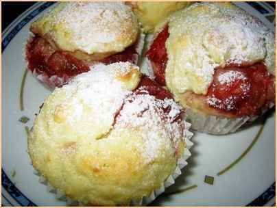 recette muffins aux coulis de fraise et rhubarbe 750g. Black Bedroom Furniture Sets. Home Design Ideas