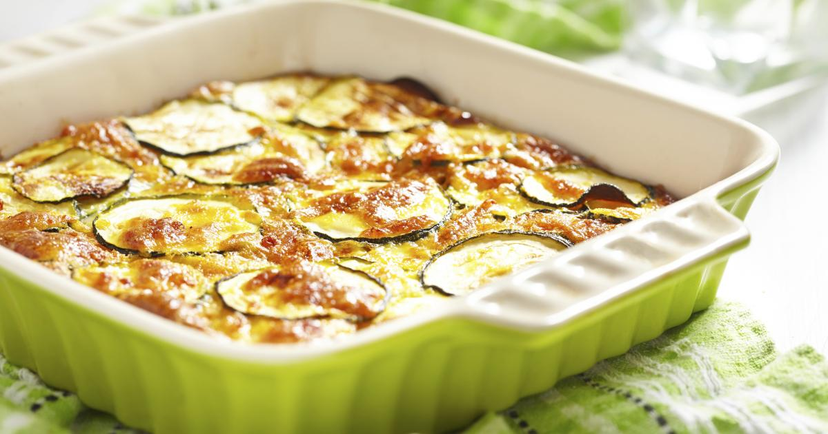 recette gratin de courgettes fa on flan 750g. Black Bedroom Furniture Sets. Home Design Ideas