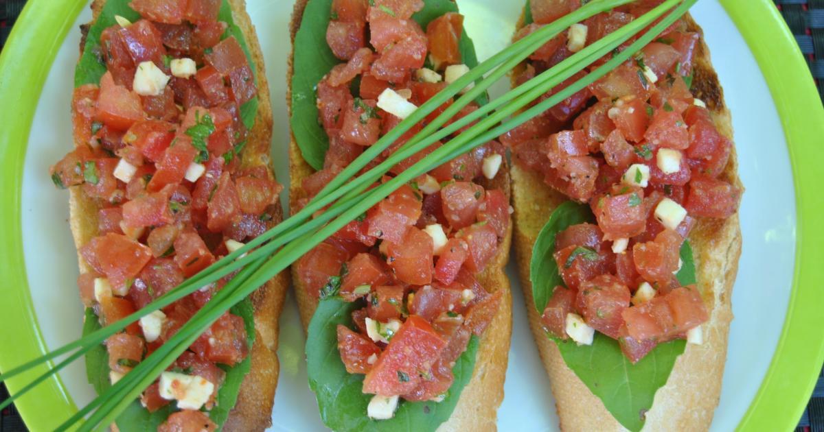 Recette crostinis de tomates basilic mozzarella 750g for Cuisine 750g