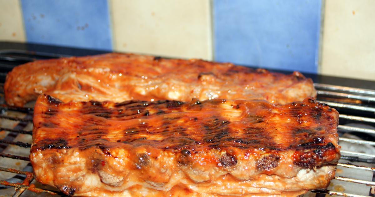recette travers de porc sauce barbecue 750g. Black Bedroom Furniture Sets. Home Design Ideas