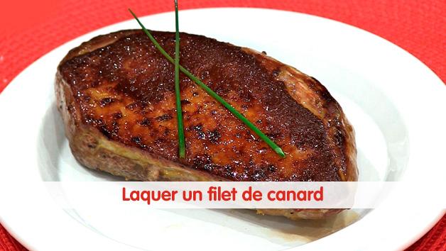 Laquer un filet de canard vid o - Cuisiner un filet de canard ...