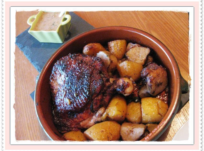 Recette cuisse de dinde sauce maya pommes de terre et - Cuisiner cuisse de dinde ...