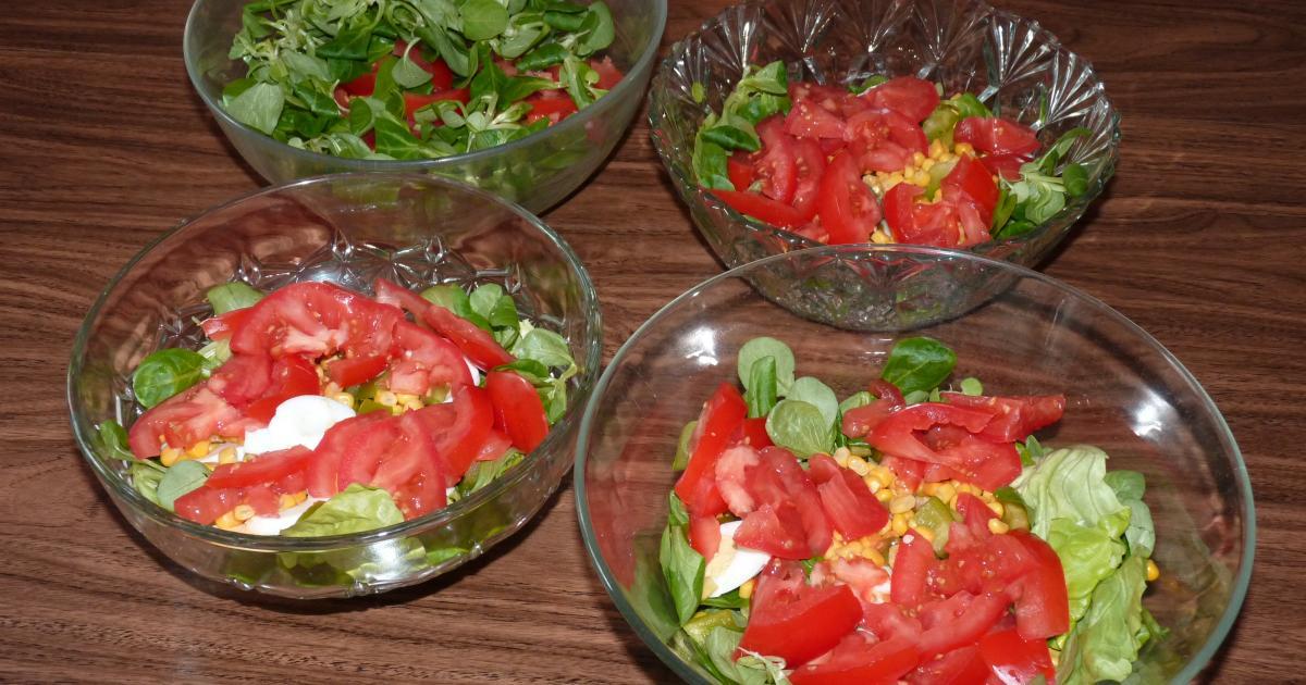 id es de recettes de salade de laitue les recettes les mieux not es. Black Bedroom Furniture Sets. Home Design Ideas