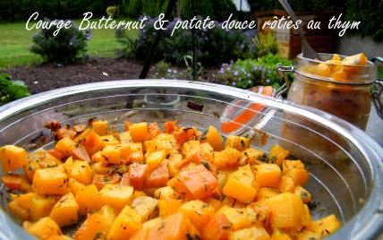 Recette courge butternut et patate douce r ties au thym 750g - Cuisiner des carottes a la poele ...