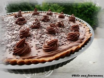 recette tarte au chocolat au lait caramel au beurre. Black Bedroom Furniture Sets. Home Design Ideas