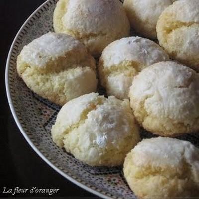 Recette macarons marocains noix de coco et semoule fine - Apprendre a cuisiner facile ...