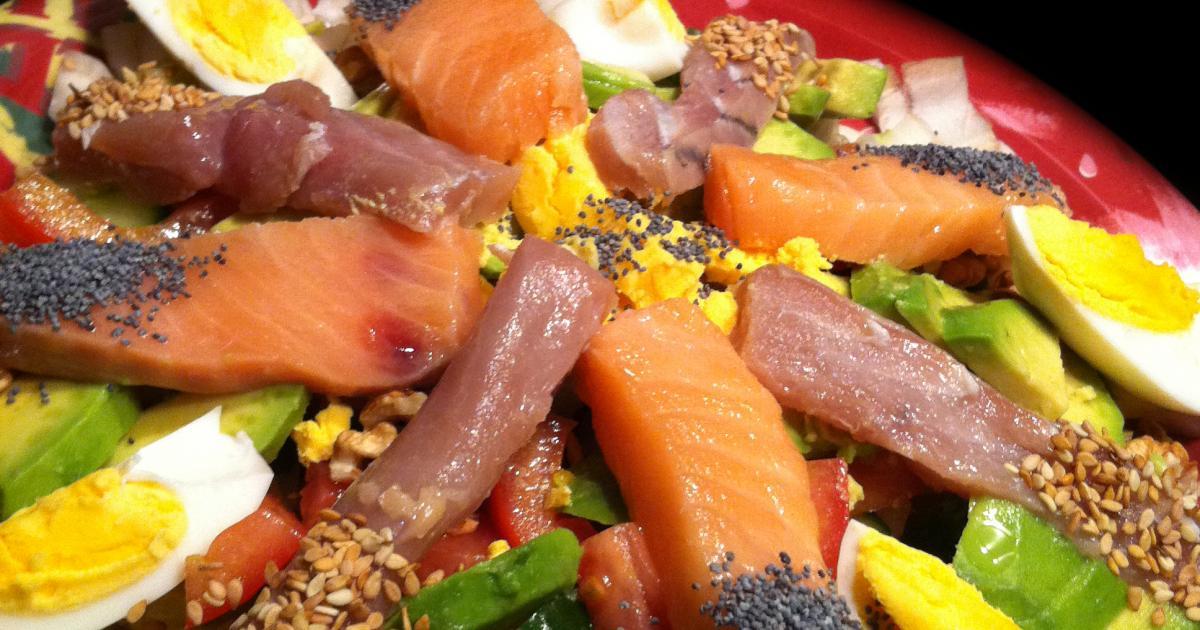 recette sashimi salad faites le plein d 39 omegas 3 750g. Black Bedroom Furniture Sets. Home Design Ideas