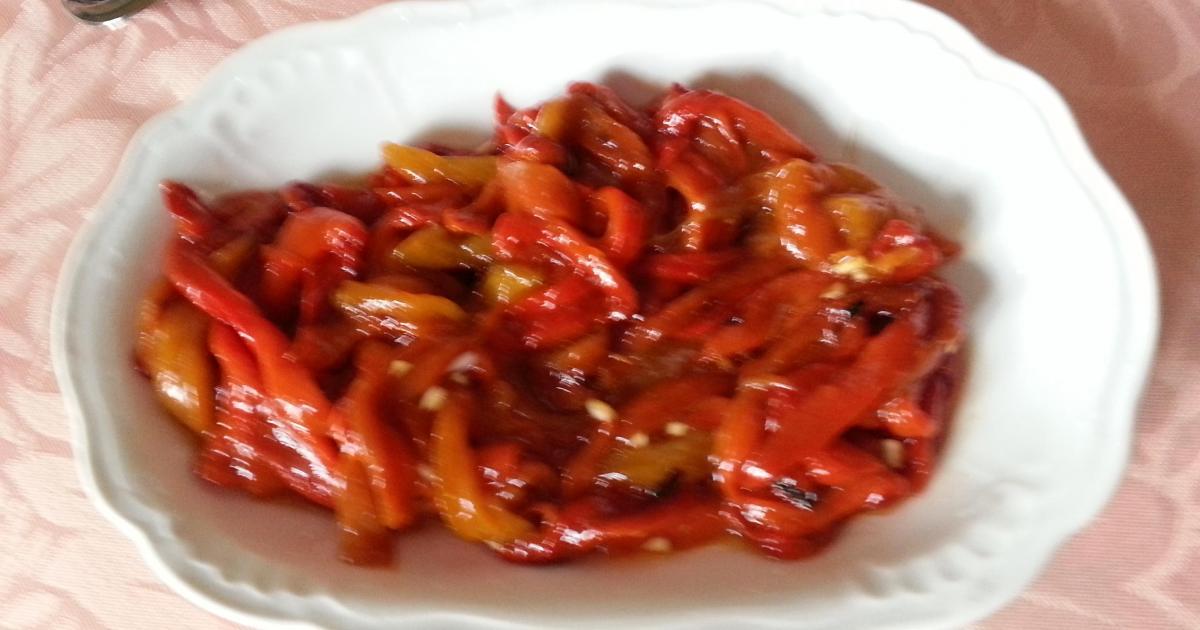 Recette - Salade de poivrons rouges en vidéo