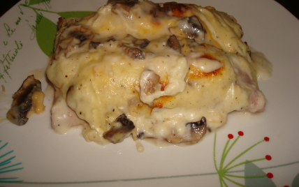 recette lasagnes au poulet et champignons 750g. Black Bedroom Furniture Sets. Home Design Ideas