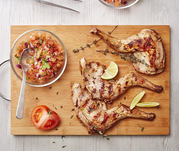 Recette gigolettes de lapin au barbecue parfum es au for Cuisine 750g