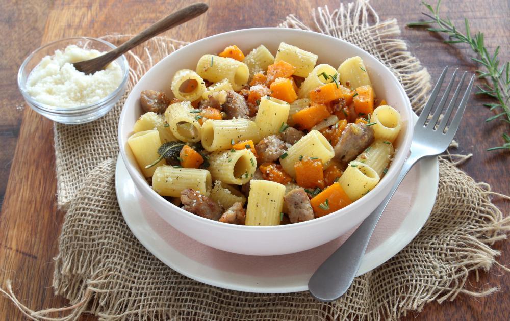 Recette Pates A La Courge Butternut Et Saucisses 750g