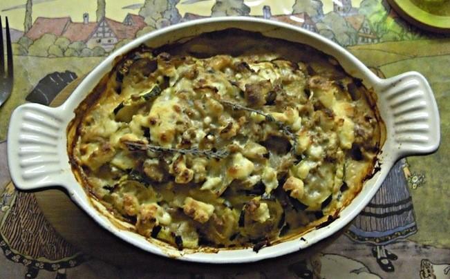 Recette tian de courgettes au thon et au boursin cuisine for Cuisine 750g