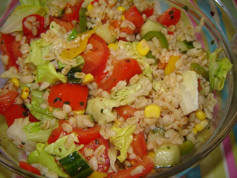 Recette salade de bl au concombre et au poivron 750g - Mon thermomix ne pese plus ...