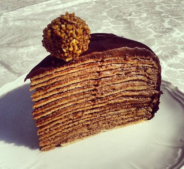Gateau mille feuille au chocolat