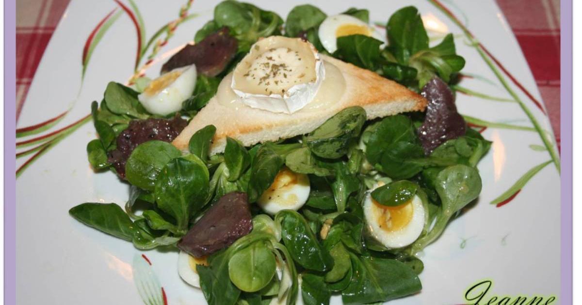 Recette salade de ch vre chaud et g siers confits 750g for Cuisine 750g