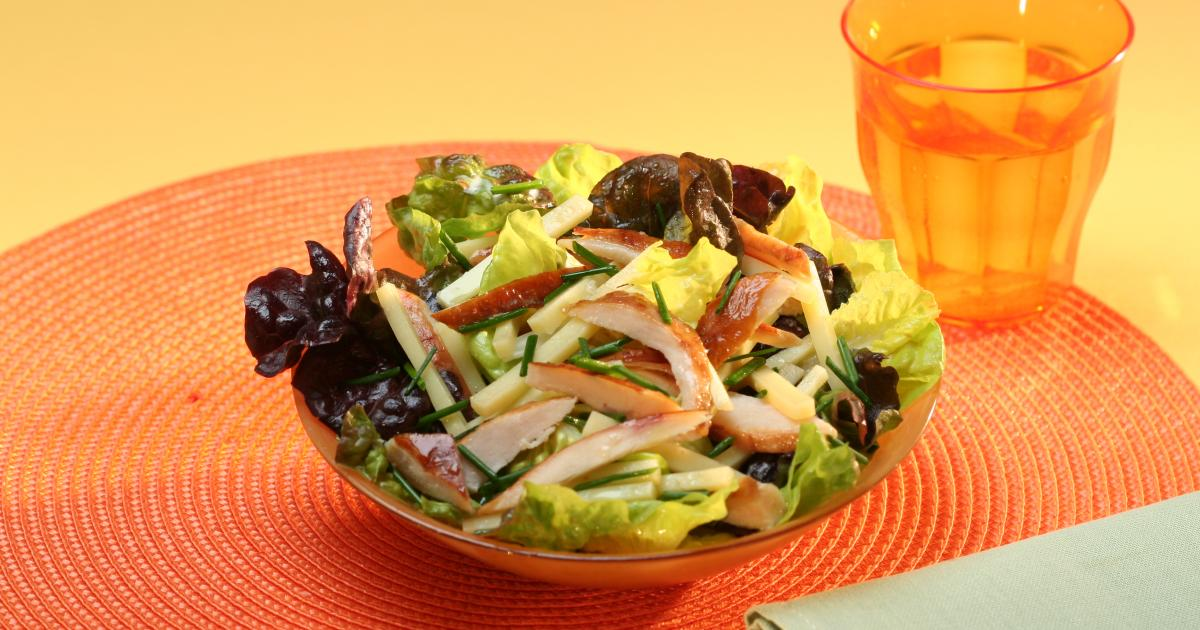 Assez Recette - Salade de poulet rôti et emmental | 750g TX95