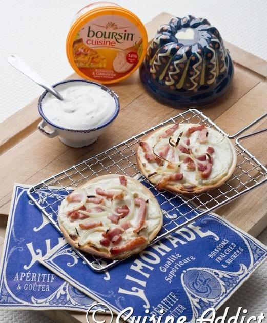 Recette mini tartes flamb es au boursin cuisine 750g for Cuisine 750g
