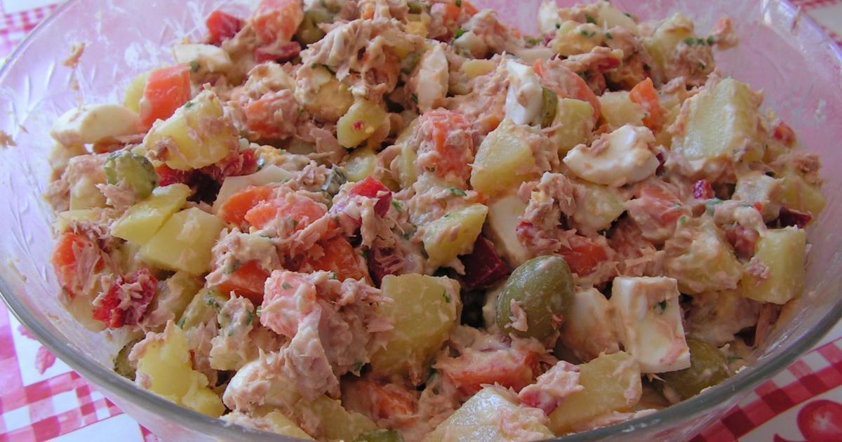 Recette salade russe maison 750g for Cuisine 974