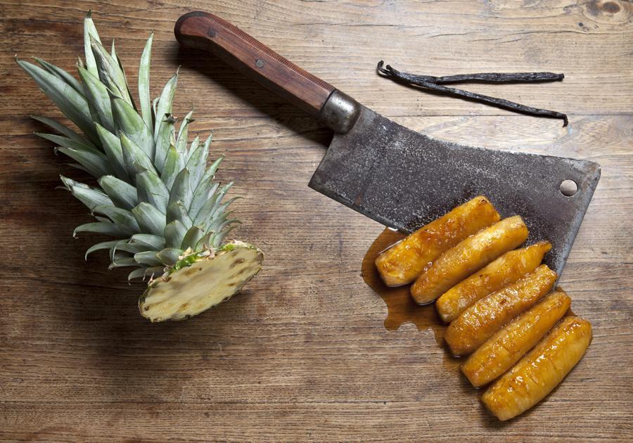 Recette ananas r ti de la cuisine des pirates 750g for Cuisine 750g