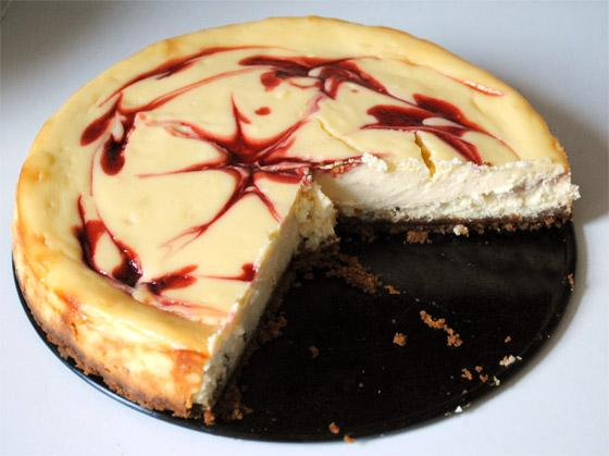 Recette - Cheesecake chocolat blanc et framboises | 750g