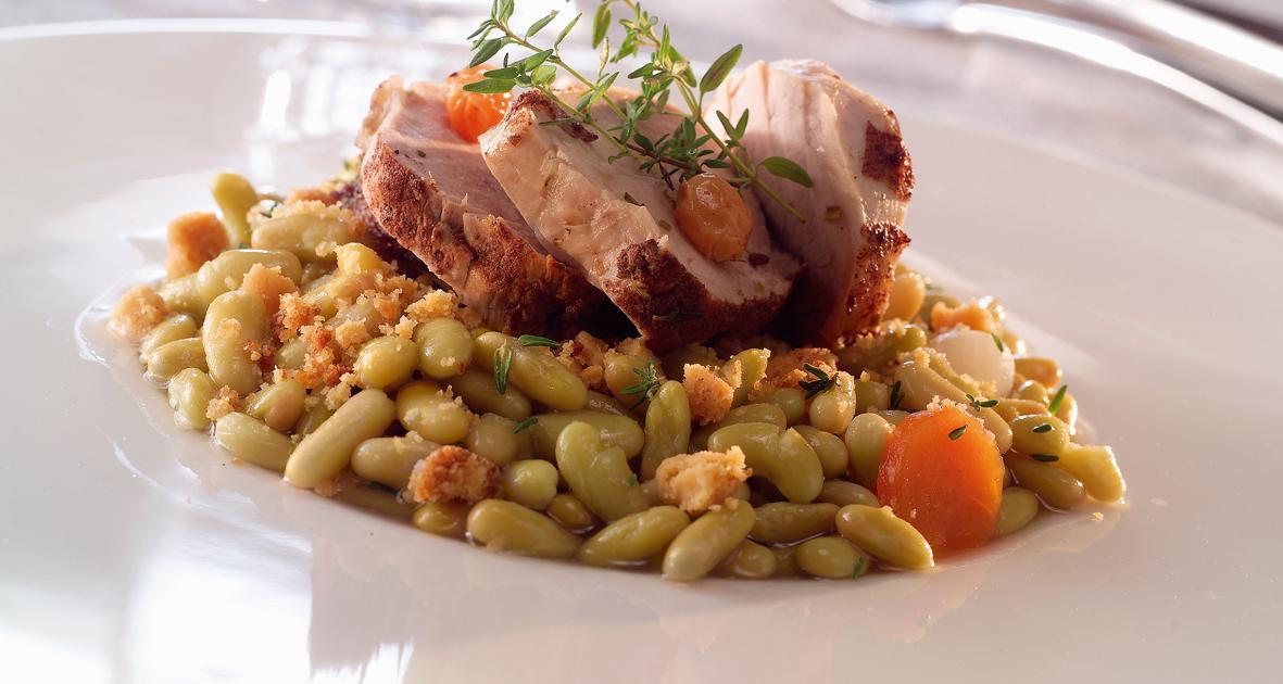 Recette filets mignons de porc crumble de flageolets verts 750g - Comment cuisiner les flageolets ...
