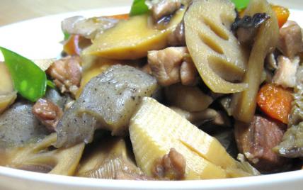 Recette chikuzen ni plat traditionnel japonais 750g - Apprendre a cuisiner japonais ...