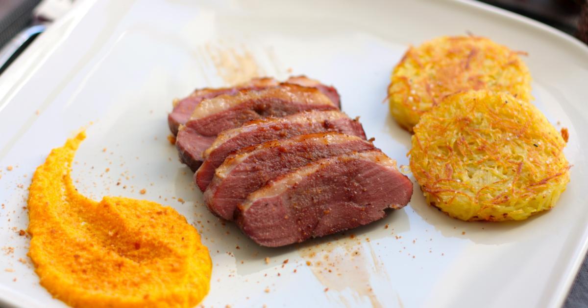 Recettes du magret de canard au miel les recettes les mieux not es - Cuisiner un magret de canard a la poele ...