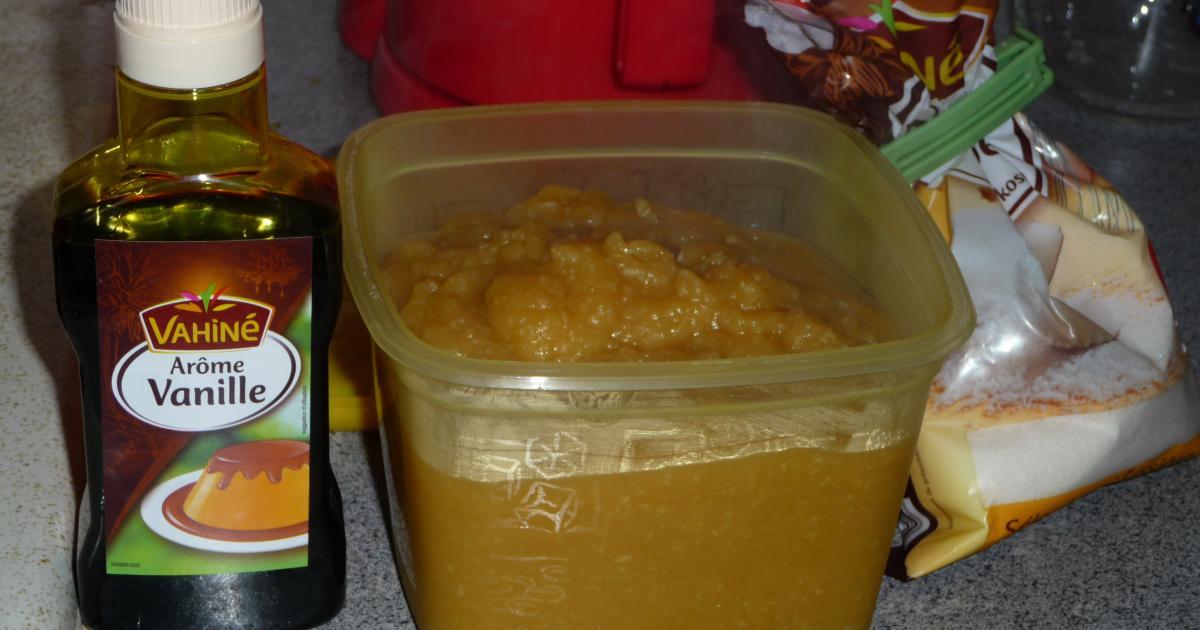 recette compote de pommes maison la noix de coco et ar me vanille 750g. Black Bedroom Furniture Sets. Home Design Ideas