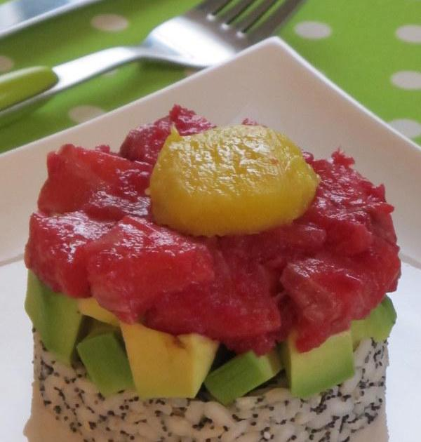 recette tartare saumon betterave avocat citron et riz pavot et mangue 750g. Black Bedroom Furniture Sets. Home Design Ideas