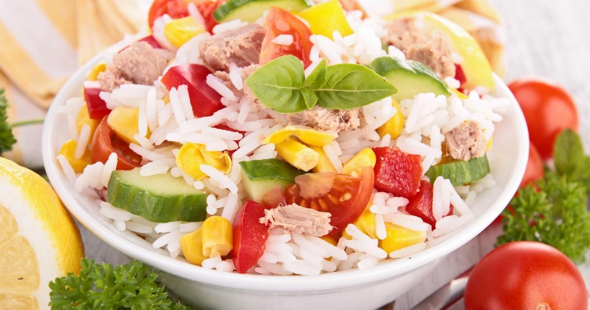 Recette - Salade de riz au thon | 750g