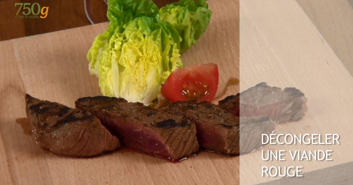 astuce d congeler une viande rouge vid o. Black Bedroom Furniture Sets. Home Design Ideas