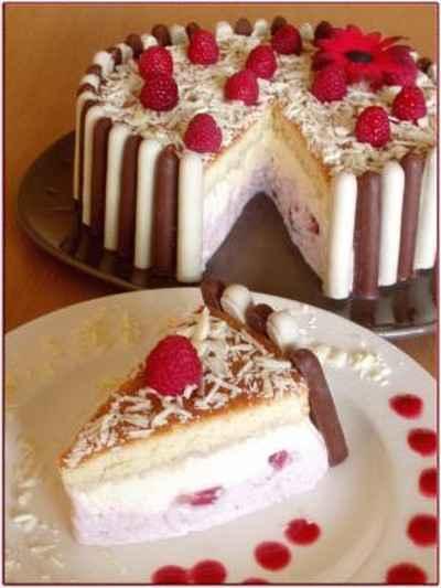 recette charlotte au chocolat blanc et aux fraises 750g
