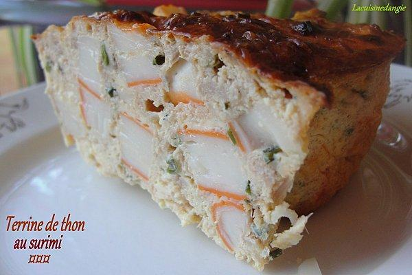 recette terrine de thon au surimi 750g. Black Bedroom Furniture Sets. Home Design Ideas