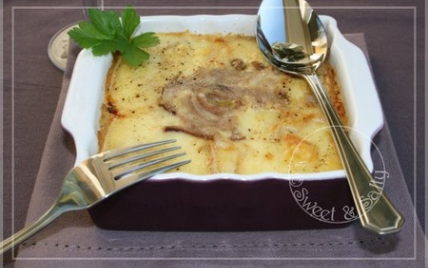 recette gratin au fromage et andouille de gu m n 750g. Black Bedroom Furniture Sets. Home Design Ideas