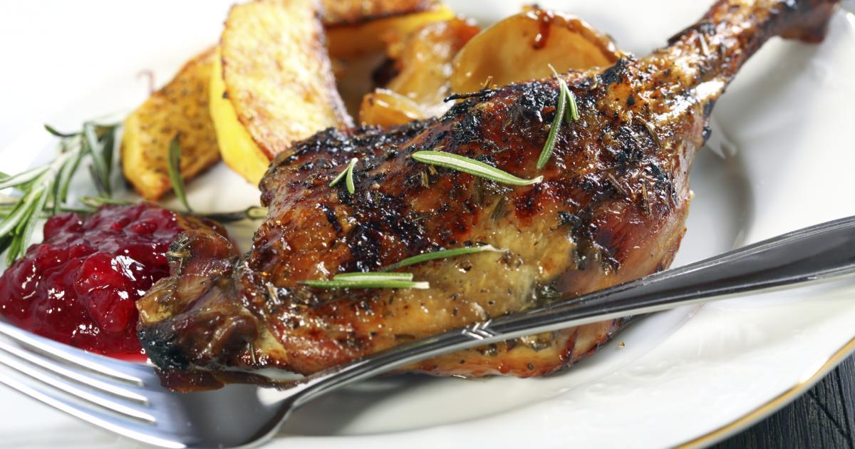 Recette cuisses de canard r ties au miel et romarin - Comment cuisiner des cuisses de canard ...